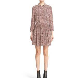 Burberry Emmaleen Print Mulberry Silk Shirt Dress